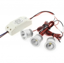 PACK 3 x Foco Led GOST MINI, 3x3W, Blanco neutro